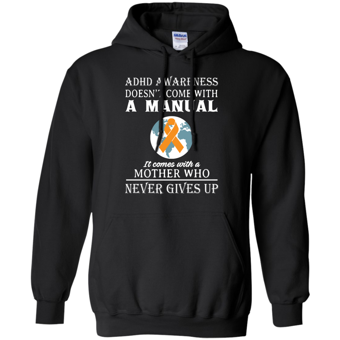 image 273px Adhd Awareness Shirt: It Come With a Mother Who Never Gives Up T Shirts