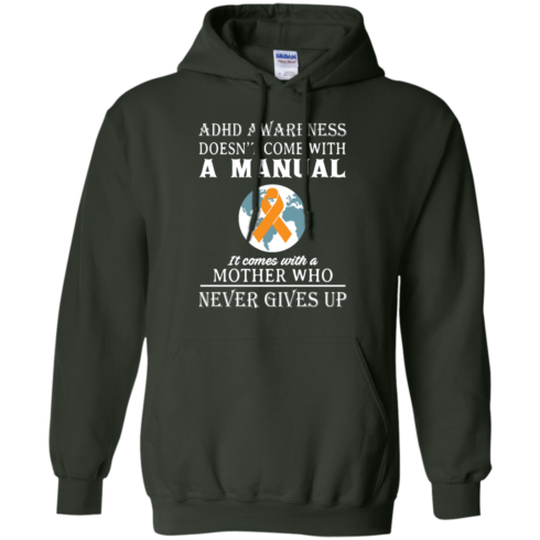 image 274 490x490px Adhd Awareness Shirt: It Come With a Mother Who Never Gives Up T Shirts