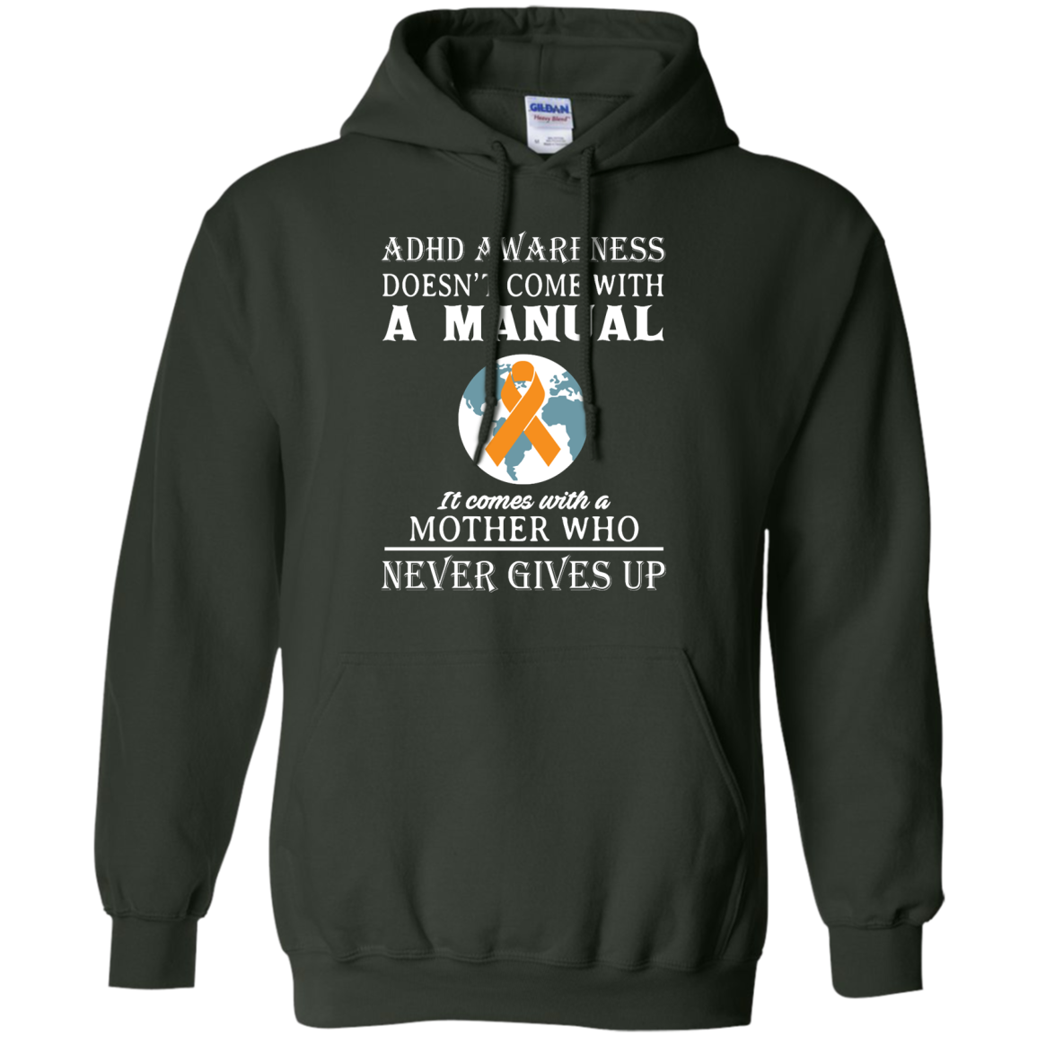 image 274px Adhd Awareness Shirt: It Come With a Mother Who Never Gives Up T Shirts