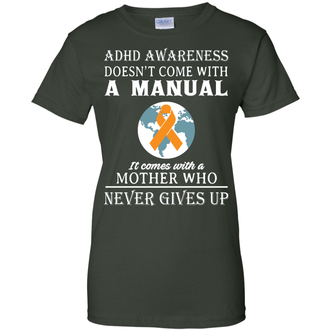image 277px Adhd Awareness Shirt: It Come With a Mother Who Never Gives Up T Shirts