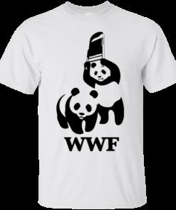 image 280 247x296px WWF Panda Bear Wrestling T Shirts