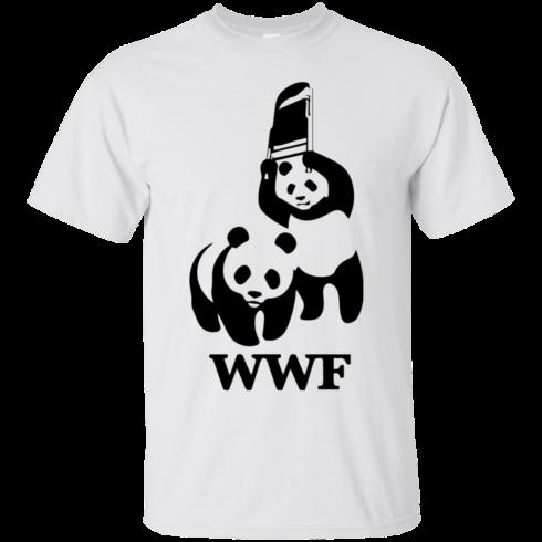 image 280 490x490px WWF Panda Bear Wrestling T Shirts