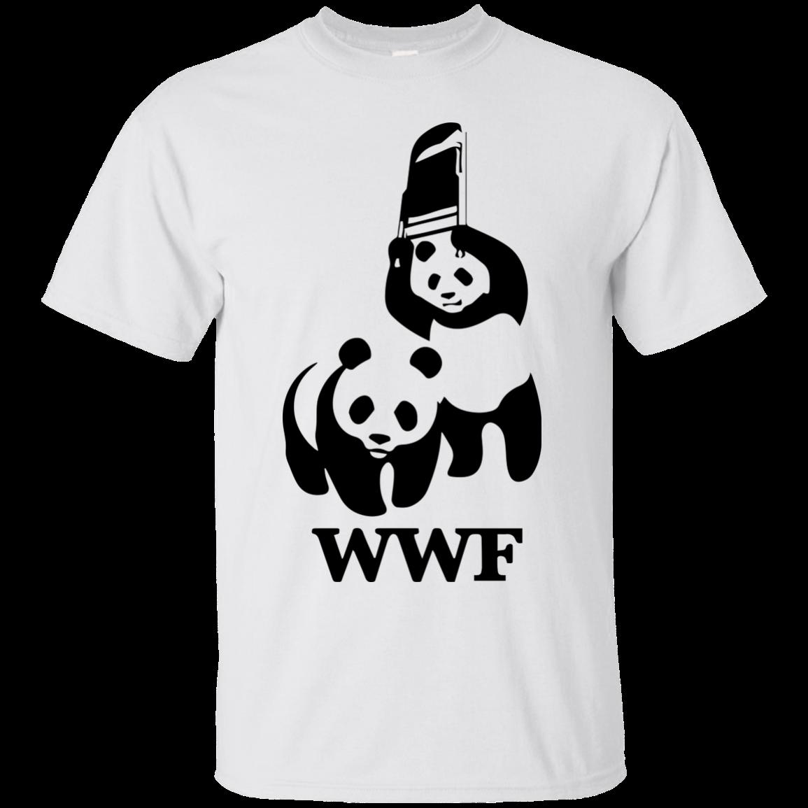 image 280px WWF Panda Bear Wrestling T Shirts
