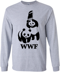 image 282 247x296px WWF Panda Bear Wrestling T Shirts