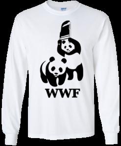 image 283 247x296px WWF Panda Bear Wrestling T Shirts