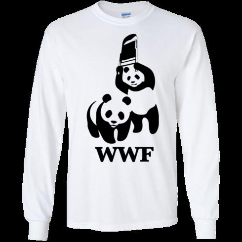image 283 490x490px WWF Panda Bear Wrestling T Shirts