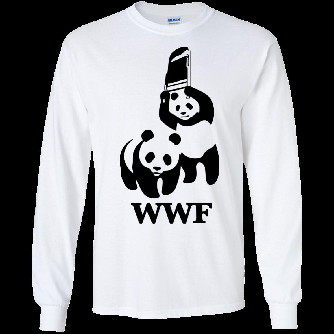 image 283px WWF Panda Bear Wrestling T Shirts