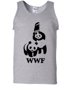image 286 247x296px WWF Panda Bear Wrestling T Shirts