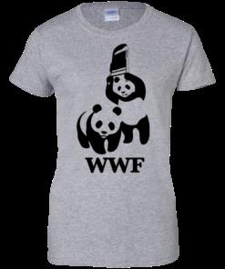 image 288 247x296px WWF Panda Bear Wrestling T Shirts
