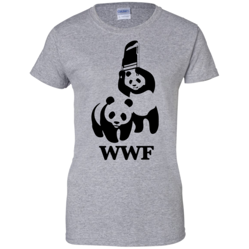 image 288 490x490px WWF Panda Bear Wrestling T Shirts
