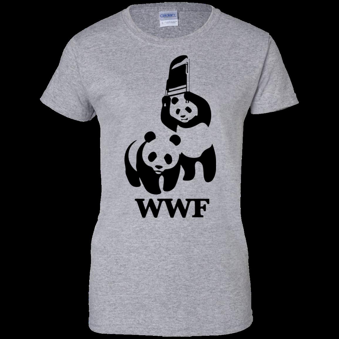 image 288px WWF Panda Bear Wrestling T Shirts