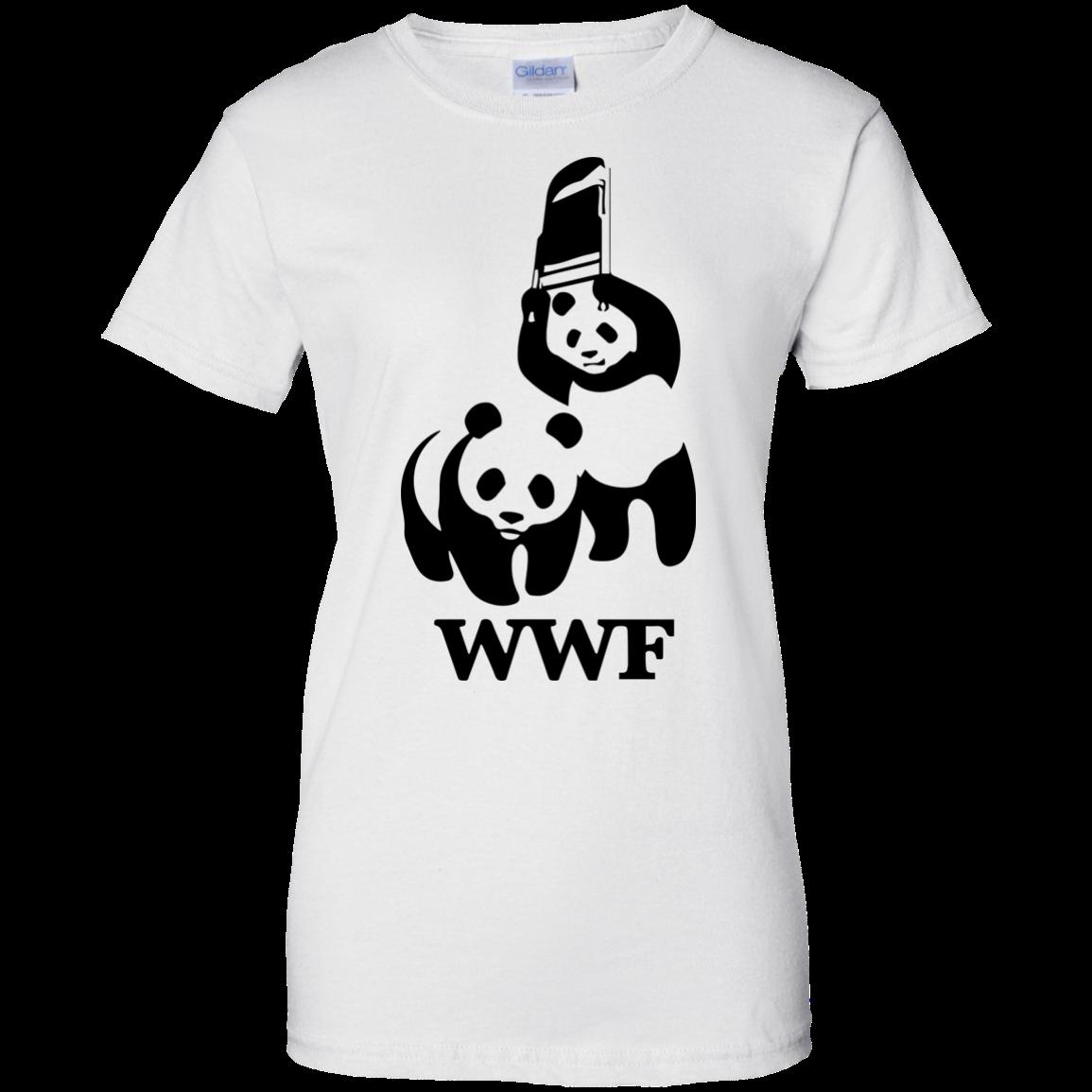 image 289px WWF Panda Bear Wrestling T Shirts