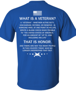 image 303 247x296px What Is A Veteran That Is Honor T Shirts, Hoodies & Tank Top