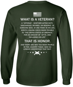 image 305 247x296px What Is A Veteran That Is Honor T Shirts, Hoodies & Tank Top