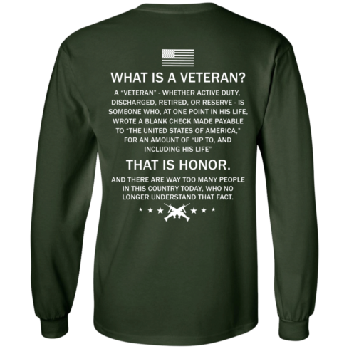 image 305 490x490px What Is A Veteran That Is Honor T Shirts, Hoodies & Tank Top