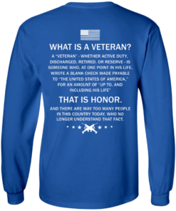 image 306 247x296px What Is A Veteran That Is Honor T Shirts, Hoodies & Tank Top