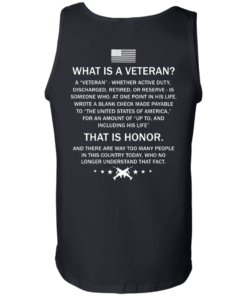 image 310 247x296px What Is A Veteran That Is Honor T Shirts, Hoodies & Tank Top