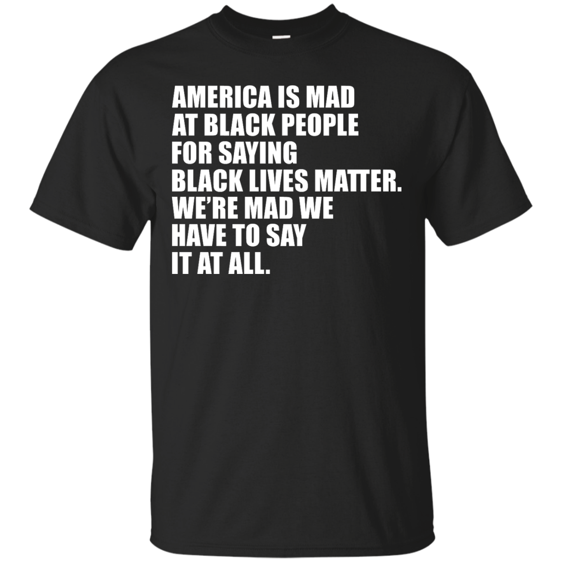 image 33px American Is Mad At Black People For Saying Black Lives Matter T Shirt