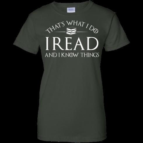 image 173 490x490px That's What I Do I Read and I Know Things T Shirt, Hoodies