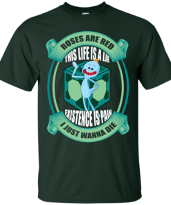 image 18 247x296px Mr Meeseeks: Roses Are Red This Life Is A Lie T Shirts