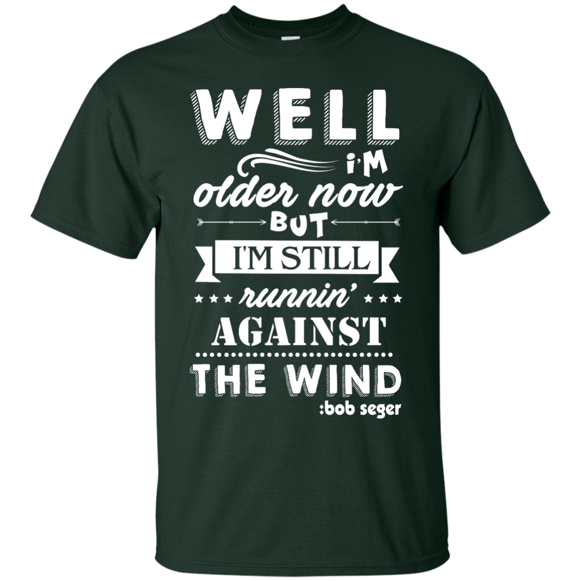 image 245px Bob Seger: I'm Older Now But I'm Still Running Against The Wind T Shirts