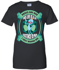image 25 247x296px Mr Meeseeks: Roses Are Red This Life Is A Lie T Shirts