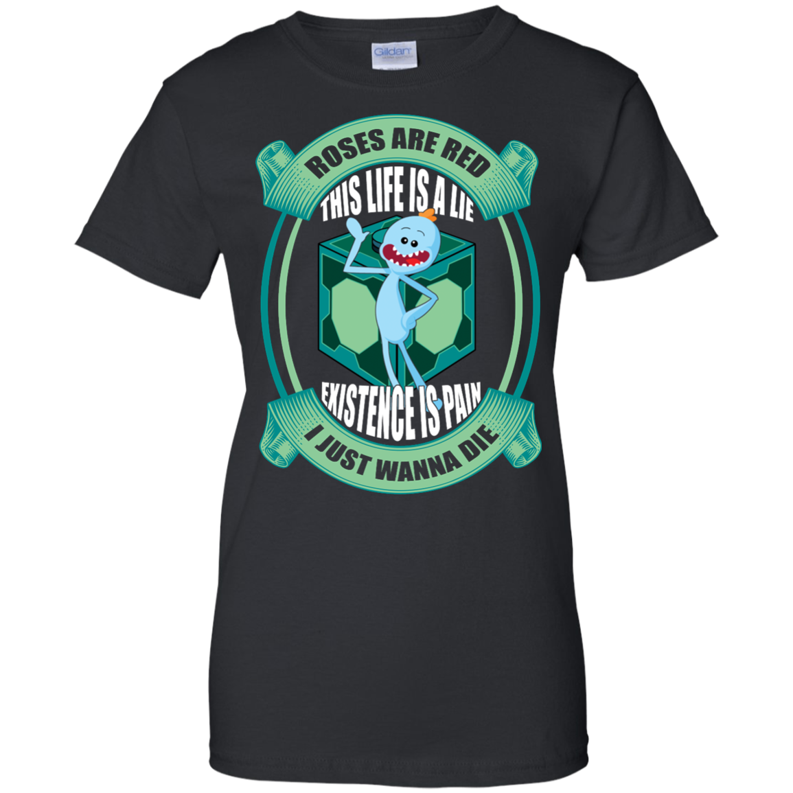 image 25px Mr Meeseeks: Roses Are Red This Life Is A Lie T Shirts