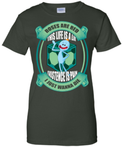 image 26 247x296px Mr Meeseeks: Roses Are Red This Life Is A Lie T Shirts