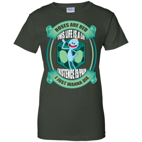 image 26 490x490px Mr Meeseeks: Roses Are Red This Life Is A Lie T Shirts