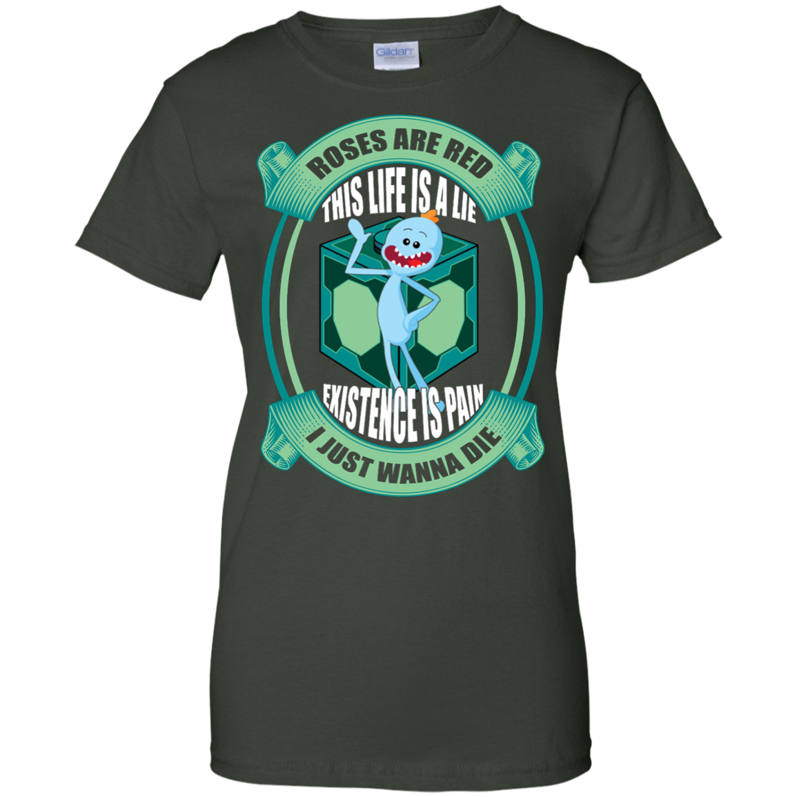 image 26px Mr Meeseeks: Roses Are Red This Life Is A Lie T Shirts