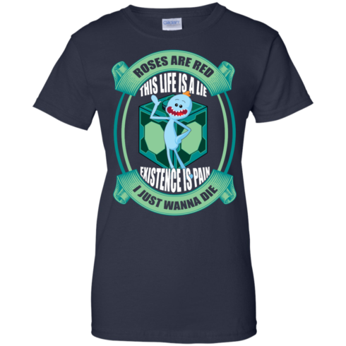 image 27 490x490px Mr Meeseeks: Roses Are Red This Life Is A Lie T Shirts