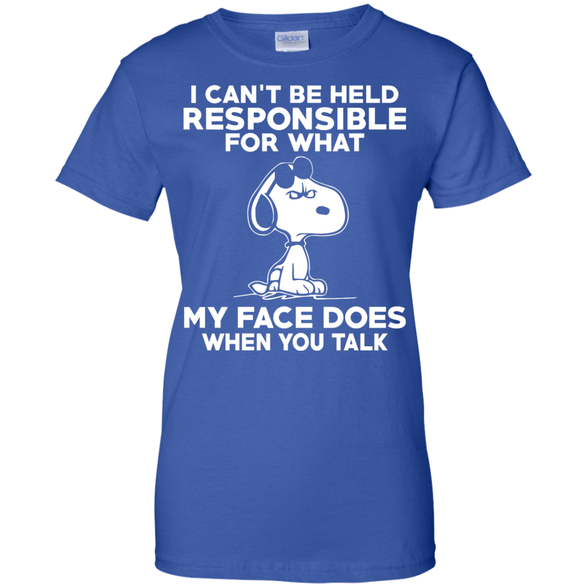 image 298px Peanuts Snoopy: I Can't Be Held Responsible For What My Face Does T Shirt