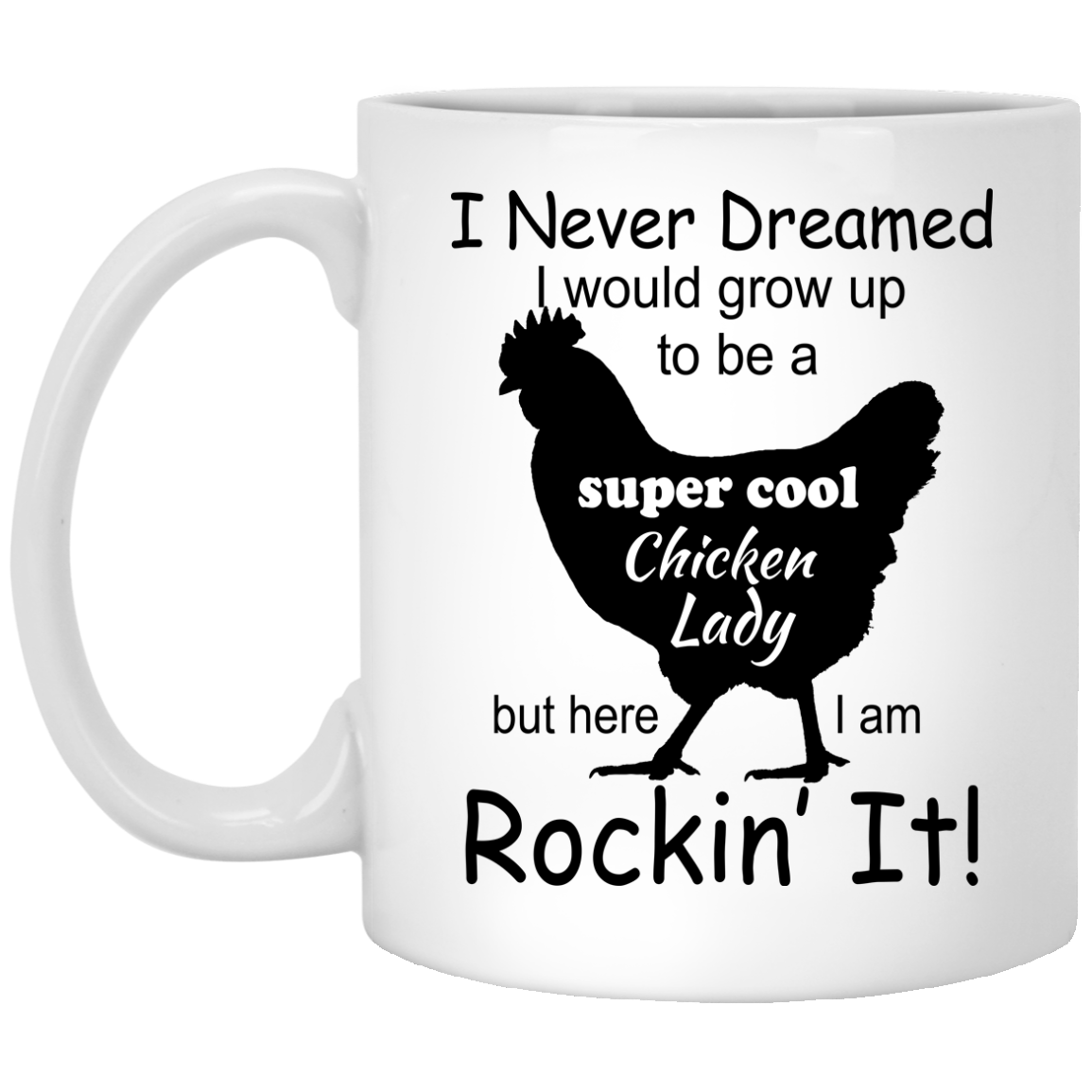 image 332px I Never Dreamed I Would Grow Up To Be A Chicken Lady Mug Coffee
