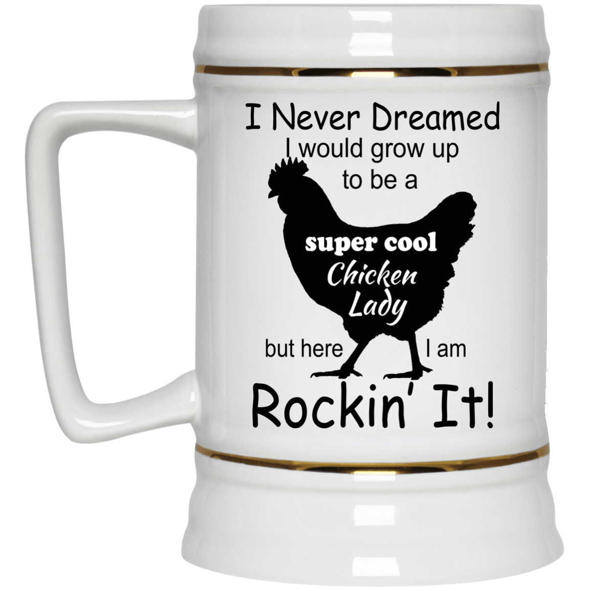 image 334px I Never Dreamed I Would Grow Up To Be A Chicken Lady Mug Coffee