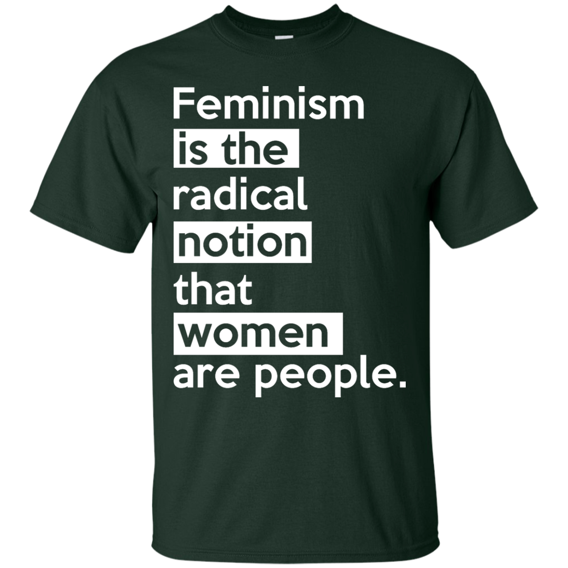 image 339px Feminism is the radical notion that women people T Shirts