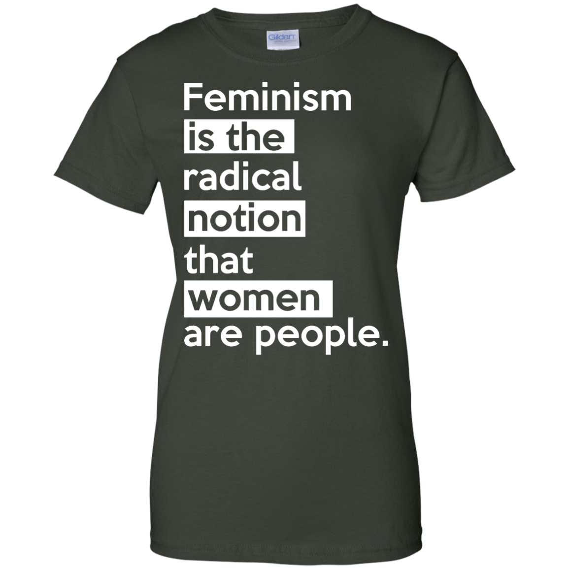 image 347px Feminism is the radical notion that women people T Shirts