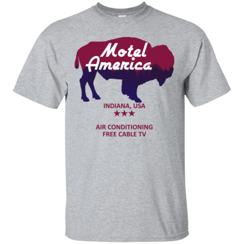 image 378 490x490px Motel America, Indiana USA Shirt Home of the Gods T Shirts