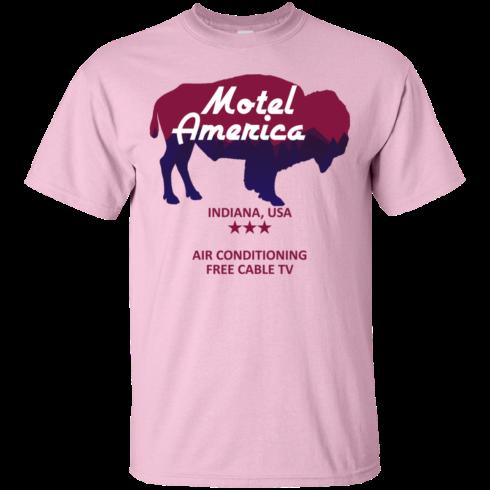 image 380 490x490px Motel America, Indiana USA Shirt Home of the Gods T Shirts