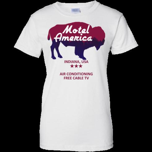 image 387 490x490px Motel America, Indiana USA Shirt Home of the Gods T Shirts