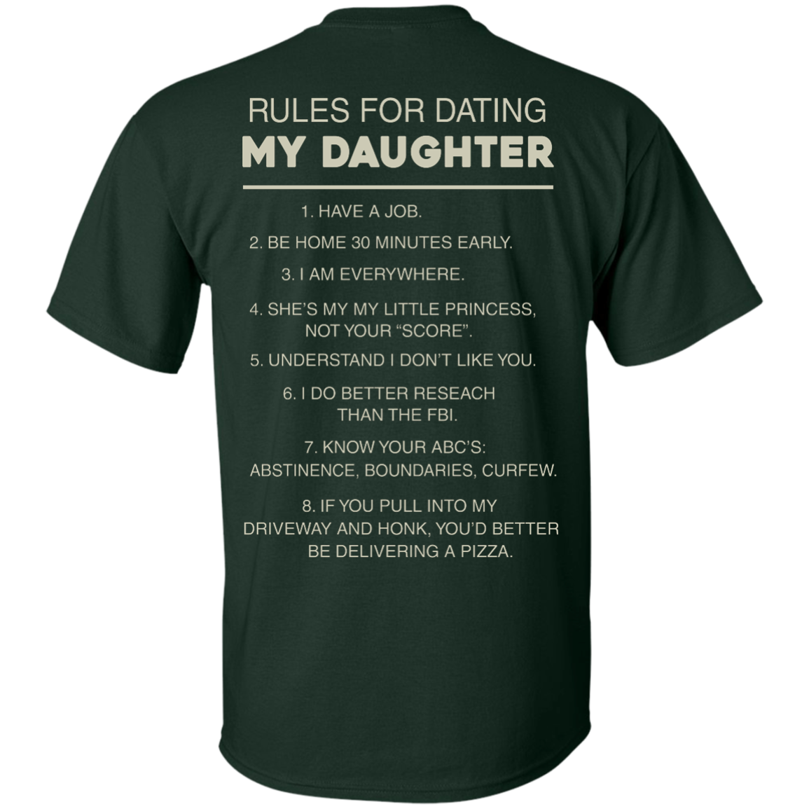 image 41px Rules For Dating My Daughter T Shirt, Hoodies & Tank Top