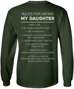 image 44 247x296px Rules For Dating My Daughter T Shirt, Hoodies & Tank Top