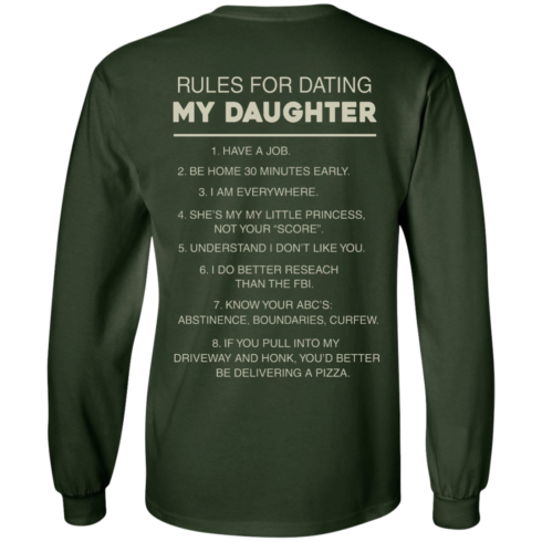 image 44 490x490px Rules For Dating My Daughter T Shirt, Hoodies & Tank Top