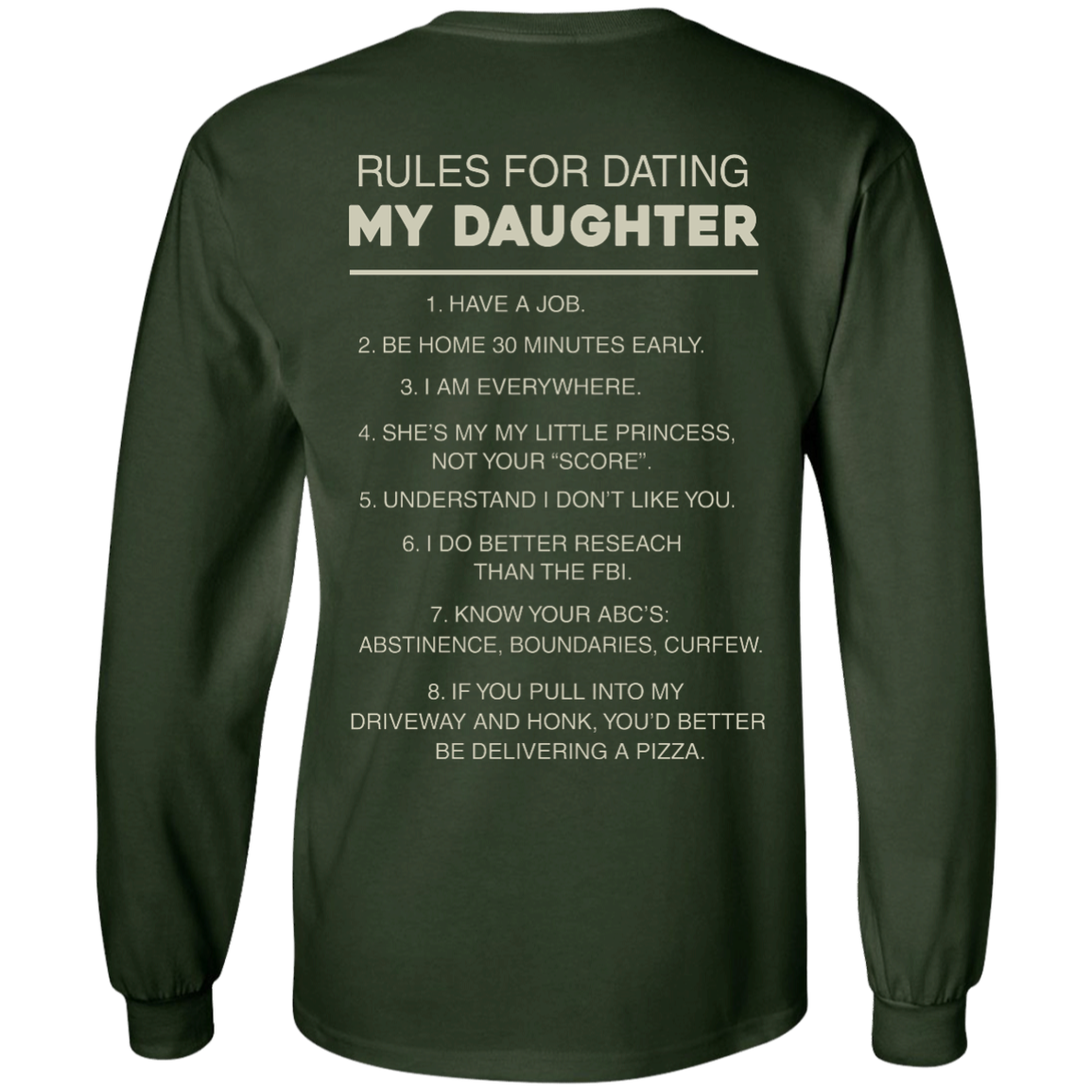 image 44px Rules For Dating My Daughter T Shirt, Hoodies & Tank Top