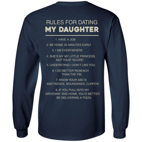 image 45 490x490px Rules For Dating My Daughter T Shirt, Hoodies & Tank Top