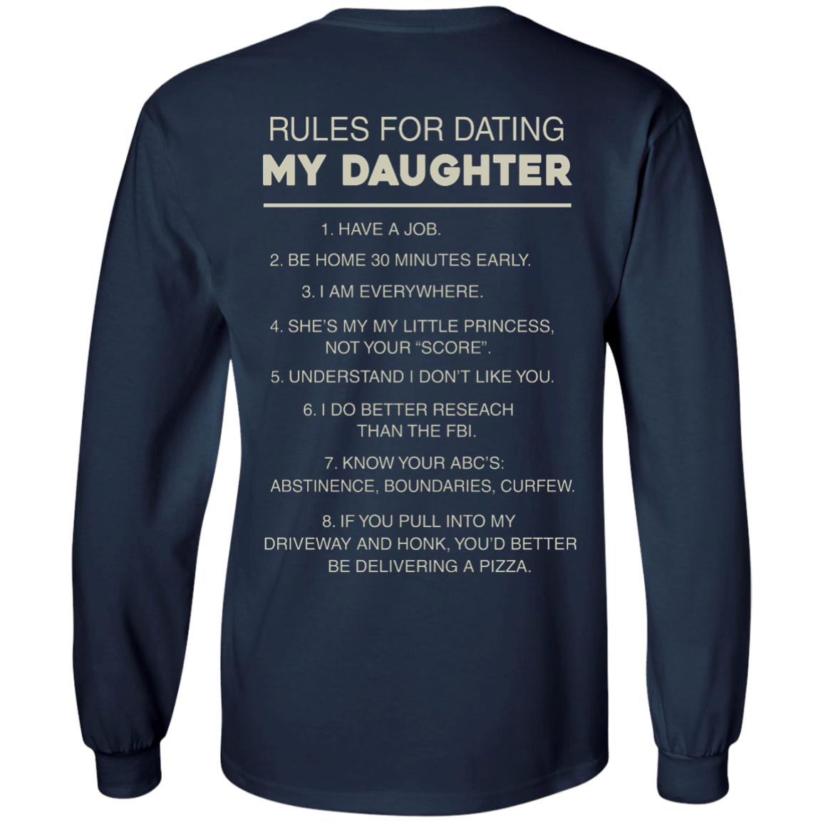 image 45px Rules For Dating My Daughter T Shirt, Hoodies & Tank Top