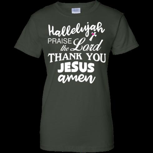 image 536 490x490px Hallelujah Praise The Lord Thank You Jesus Amen T Shirts, Hoodies