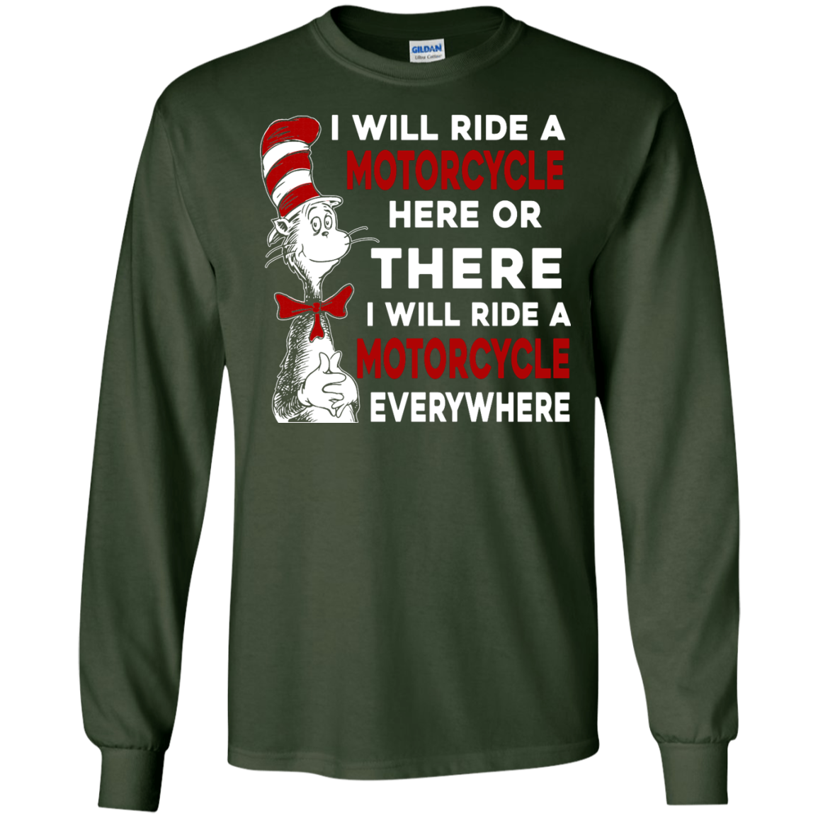 image 574px I Will Ride A Motorcycle Here Or There Or Everywhere T Shirts, Hoodies