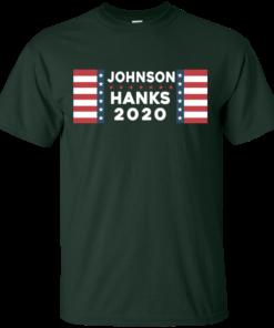 image 651 247x296px Johnson Hanks for president 2020 T Shirts, Hoodies, Tank Top