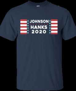 image 652 247x296px Johnson Hanks for president 2020 T Shirts, Hoodies, Tank Top