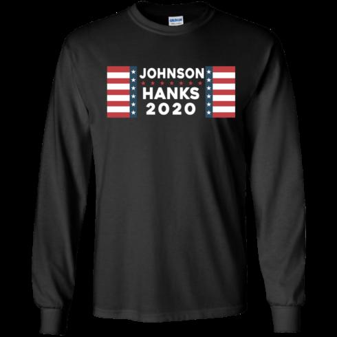 image 653 490x490px Johnson Hanks for president 2020 T Shirts, Hoodies, Tank Top